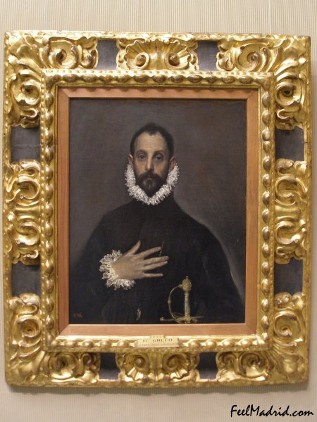 The Nobleman with a Hand on His Chest by El Greco